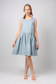 Robe en lin / Lin en vrac tunique lin / robe / tunique de lin robe / robe d'été / vêtements pour femmes / vêtements de style Empire par LinenCloud sur Etsy https://www.etsy.com/fr/listing/256250751/robe-en-lin-lin-en-vrac-tunique-lin-robe