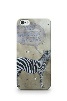 CheekyCase.com.au - Awesome iPhone Cases for 5s/5/4s/4, Samsung Galaxy S3/S4 and iPad Mini #zebra #youlookinatme