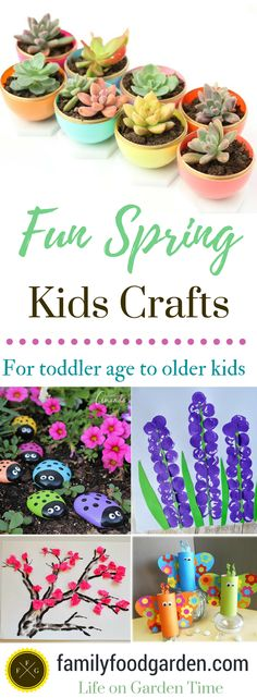 Spring Crafts for Kids, Toddlers and Preschoolers | Family Food Garden