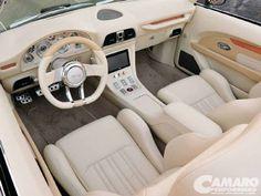 Pro-Touring 69 camaro interior custom console dash modern
