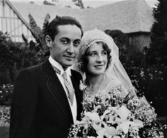 wedding addition: Norma Shearer & Irving Thalberg in 1927 Old Hollywood Movies, Hollywood Icons, Hollywood Celebrities, Irving Thalberg, Flapper Wedding, Four Movie, Norma Shearer, Silent Film Stars, Same Love