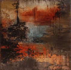African painting rust  Abstract painting impasto by AtelierMaltopf