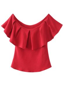 Off The Shoulder Ruffles Top Red Red Off Shoulder Top, Off Shoulder Shirt, Blouse Styles, Blouse Designs, Frill Tops, Designer Blouse Patterns, Flutter Sleeve Top, Ruffle Top, Ruffle Shirt