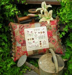 """""""Brambles"""" by Sally Giblin of The Rivendale Collection. Finished cushion size…"""