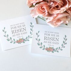 78 best christian greeting cards images on pinterest christian he is risen easter card he is not here for he is risen as he said matthew 28 easter religiou christian greetingschristian m4hsunfo