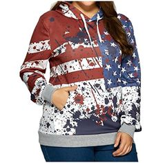 1f05b05ac9a New Fashion North America Style Hoodies Men Women Hooded Sweatshirts USA  Flag Stars   Stripes Print Hoody Tops Plus Size