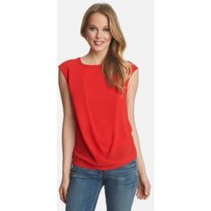 1.STATE drape front top Great 1.STATE drape front blouse in red. Size medium, only worn once! 1.STATE Tops Blouses