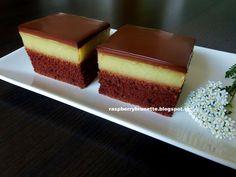 Výborný, jemný a zároveň veľmi svieži zákusok s jemnou čokoládovou polevou.       cesto:   5 vajcia  220 g kryštálového cukru  1 dl v...