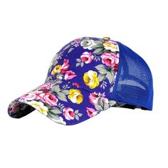 91c0e4bd71b Eforstore Snapback Baseball Cap Floral Perforated Ball Caps Golf Hats  Summer Mesh Hat for Women Teens