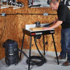 Trend T31A Wet & Dry Vacuum Extractor 1400 watts 230V - use a dust extractor whether you're using a hand held router or router table