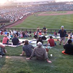 Spring Training....always sit on the lawn!!!