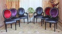 chaise medaillon noir gris antracyte