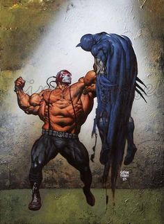 Bane vs. Batman by Glenn Fabry