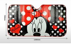 New Cartoon Car Windshield Sun Shade Minnie Mouse Cars Lightning Front Red Cute