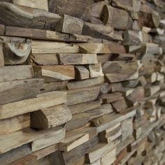 Reclaimed natural wood for Wall coverings for interior design Wood Panel Walls, Wooden Walls, Firewood, Natural Wood, Street Art, Architecture, Pictures, Design, Studio