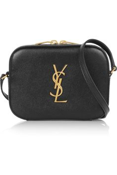 Saint Laurent|Mongramme textured-leather camera bag|NET-A-PORTER.COM