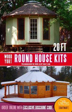 Round House Plans, A Frame House Plans, Dream House Plans, House Floor Plans, Cabin Design, Cottage Design, Tiny House Design, Modern Tiny House, Tiny House Living