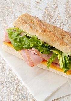 Ham and Cheddar Baguette Sandwich – Oh yes we did just improve on the already delicious classic ham and cheese sandwich! It's the little touches that make it bistro-quality fare.