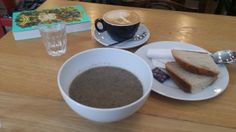 Outstanding soup and coffee at Machina Espresso :-)