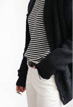 stripes, white, black