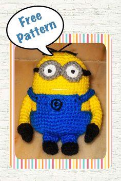 libre Despicable Me Minion modèle de crochet amigurumi