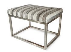 Chris Bench, Striped Gray hide from One Kings Lane