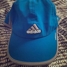 Adidas blue hat Adizero blue hat with Velcro back. Very lightweight and comfortable. Adidas Accessories Hats