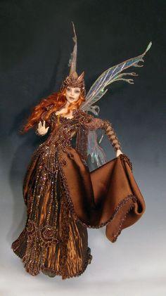 "OOAK / ""CINNAMON COCOA"", an Art Doll faery by Victoria Mock"