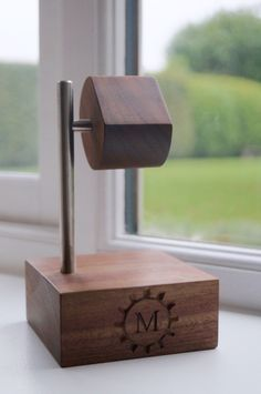 Unique wooden watch holder which is personalised and made in the UK