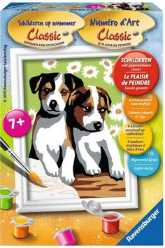 Schilderen Op Nummer - Schattige Puppies