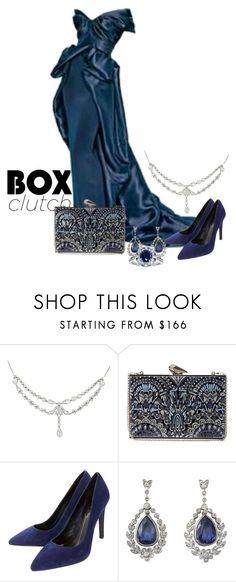 """box clutch"" by kim-coffey-harlow ❤ liked on Polyvore featuring Marchesa, KOTUR, Lola Cruz, Kobelli, women's clothing, women's fashion, women, female, woman and misses"
