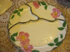 Franciscan Desert RoseGrill plate1958-62 t.v by mymothermyself