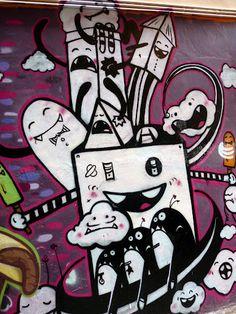 2012-02-23 Street Art off Cuba, Marian and Vivian Street, Wellington, New Zealand