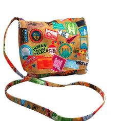 This chic cotton sling bag showcasing the bold and colourful design is convenient and stylish! - cooliyo.com