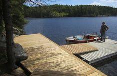 Bergskonsolbrygga Lake Landscaping, Boat Shed, Lake Dock, Cottage Plan, The Rock, House Design, Landscape, Outdoor Decor, Image