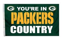 Green Bay Packers 3'x5' Country Design Flag Z157-2324594116