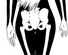 gif girl Black and White dark animation skeleton bones shake X-Ray dark gif