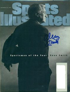 December 22, 1997, Autographed Sports Illustrated by Dean Smith (Sportsman of the Year)
