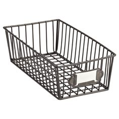 Our Small Wire Basket brings a touch of urban sophistication to any room. Great to hold lotions in the bath.