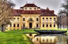 Schlosspark Oberschleißheim, Jagtschloss Lustheim, Westfassade