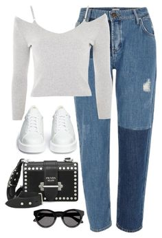 """""""Untitled #4211"""" by magsmccray on Polyvore featuring River Island, Robert Clergerie, Prada and Givenchy"""