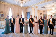 06.24.2016 - Luxembourg Grand Ducal Family hosted a dinner on the occasion of National Day in Luxembourg