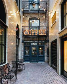 coffee shop in lights