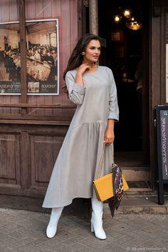 Plus Size Maxi Dresses, Nice Dresses, Casual Dresses, Fashion Photo, Fashion Looks, Dress Outfits, Fashion Dresses, Daily Dress, Muslim Fashion
