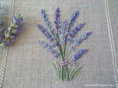 Bullion stitch lavender