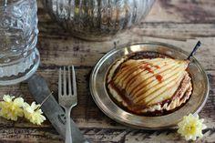 Tartaletas de pera con crema de toffee. Receta con fotografías del paso a paso y la presentación. Trucos y consejos de elaboración. Recetas de p...