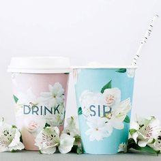 Floral Cup Wraps
