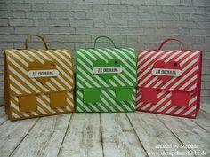 Stampin Up - Anleitung - Tutorial - Verpackung - Box - Schulranzen - Stempelset Grüße voller Sonnenschein - In Color 2015-2017 ♥ StempelnmitLiebe