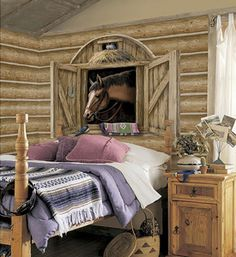 Stable Door Horse Mural for Girls - E would love this