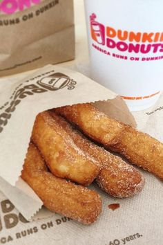 Donut Fries Are Currently Being Tested at Dunkin' Donuts — We Repeat: Donut Fries Dunkin Donuts Donut Flavors, Dunkin Donuts Coffee, Donut Recipes, Coffee Recipes, Dunken Donuts, Churros, Food Goals, Cafe Food, Food Facts